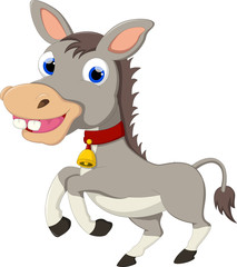cute donkey cartoon for you design