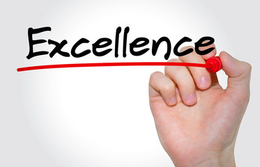 Hand writing Excellence with marker, Business concept
