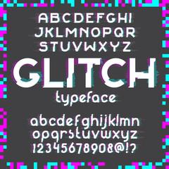 Glitch Font set