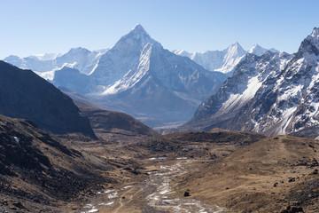 Ama Dablam mountain peak view from Chola pass
