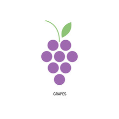 bunch of grapes. logo, symbol, logo, menu, wine list, purple. vector illustration.