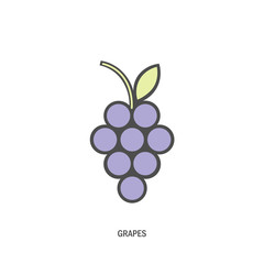 bunch of grapes. logo, symbol, logo, menu, wine list, blue. vector illustration.
