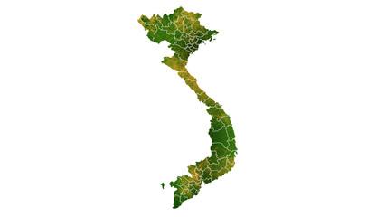 Vietnam map Asia Continent texture map
