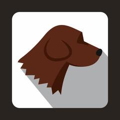 Beagle dog icon, flat style