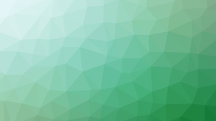 Abstract green gradient lowploly of many triangles background for use in design