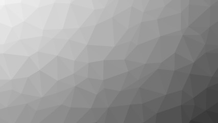 Abstract gray gradient lowploly of many triangles background for use in design