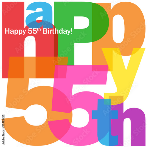 HAPPY 55th BIRTHDAY Vector Card