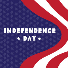 Vector illustration of Independence day