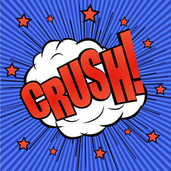 Crush comic wording effect