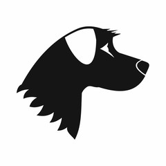 Dog icon, simple style