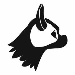 Pug dog icon, simple style