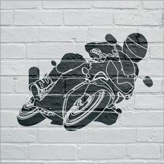 Art urbain, moto