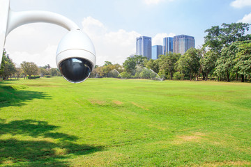 security camera in City park