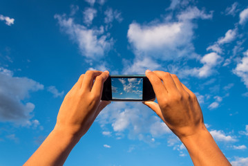 Taking pictures of a cloudy sky with a smartphone