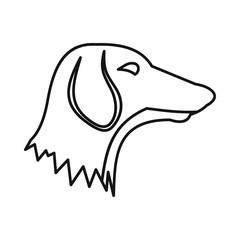 Dachshund dog icon, outline style