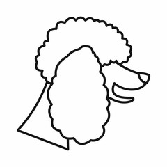 Poodle dog icon, outline style