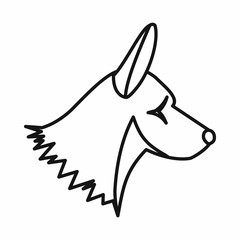 Collie dog icon, outline style