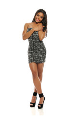 Young Fashion Woman with short dress