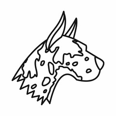 Great dane dog icon, outline style