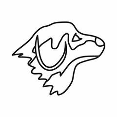 Retriever dog icon, outline style