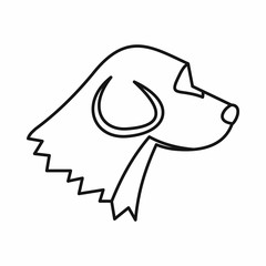 Beagle dog icon, outline style