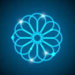 Abstract background with light geometrical mandala.