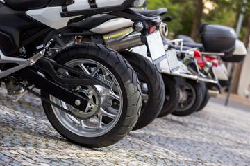 closeup details of motobike