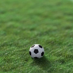 Soccer sport background, 3d rendering