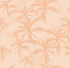 Vector seamless pattern with tropical plants.
