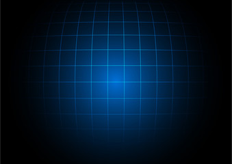 Abstract business square on dark blue background
