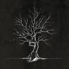 Baum für Hochzeitsgäste mit Schild