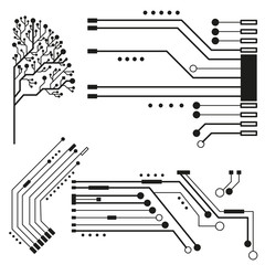 Technology circuit background for business