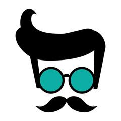 hair glasses mustache hipster