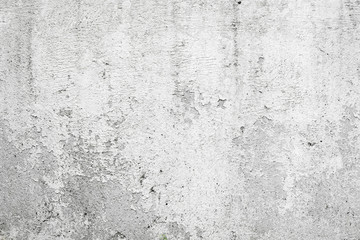 White wall with cracks background