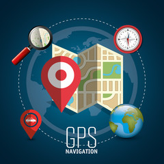 gps navigation design, vector illustration eps10 graphic
