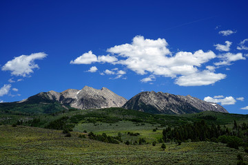 Stone Mountains on Clear Day
