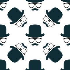 Vintage hipster symbol seamless pattern