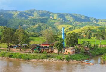 Kok River chiang rai thailand. Northern Thailand