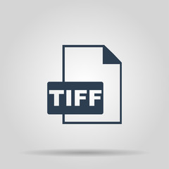 TIFF Icon. Vector concept illustration for design