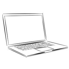 Übergewichtiges Mädchen auf Laptop Bildschirm Konzept