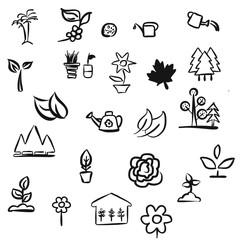 Blätter und Pflanzen Kritzelei