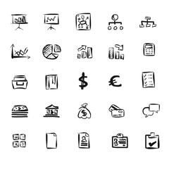 Business Icons Vektor Zeichnungen