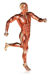 3d render of a male figure running