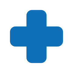 cross medical symbol isolated icon design