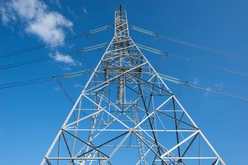 High-voltage tower.