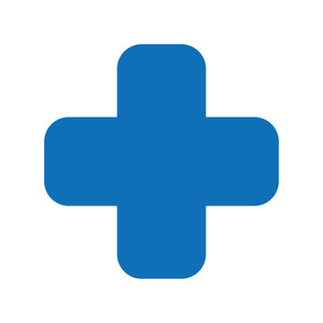 cross medical symbol isolated icon design
