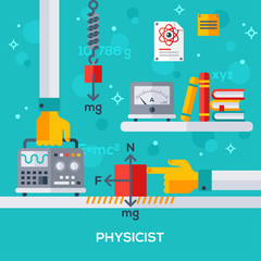 concept of physicist workplace