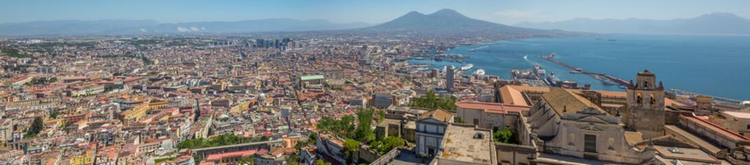 Panorama de la baie de Naples depuis le château Sant'Elmo
