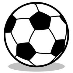 gz2 GrafikZeichnung - Einfache Fußballgrafik mit Schattenwurf - schwarz weiß - g4466