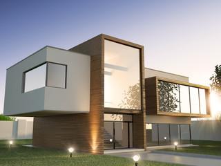 Modern House  Fototapete
